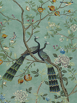 De Gournay Wallpaper Baran De Bordeaux French Antiques